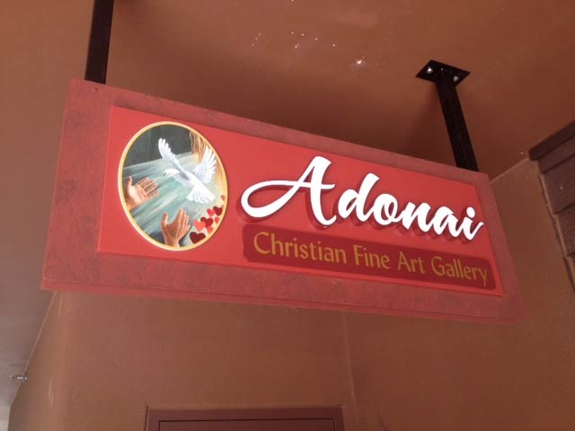 Adonai Christian Gallery Sedona sign