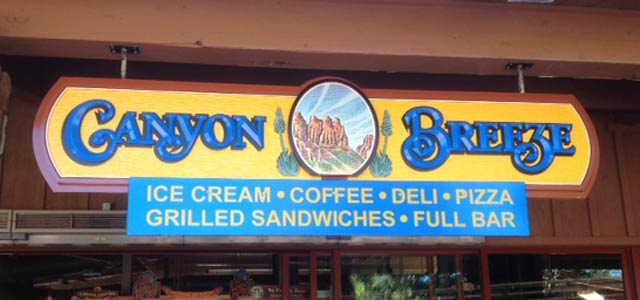 Canyon Breeze restaurant sedona sign