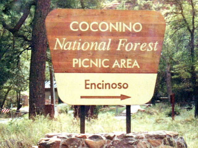 Coconino National Forest sign Arizona