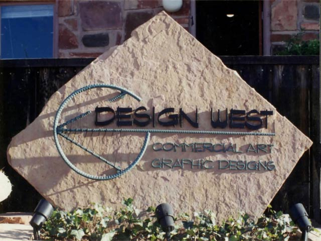 Design West rock signage