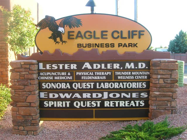 Eagle Cliff Business Park Sedona sign