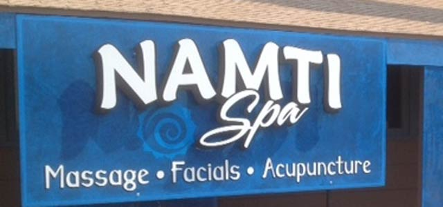 Namti Spa Massage Therapy Sedona sign