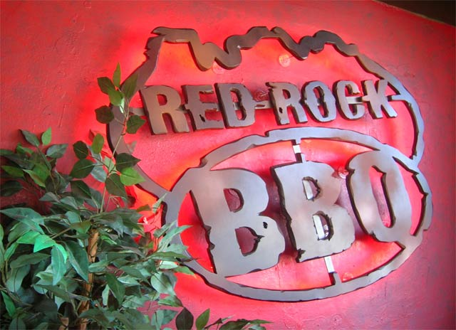 Red Rock BBQ metal 3D Neon sign Sedona