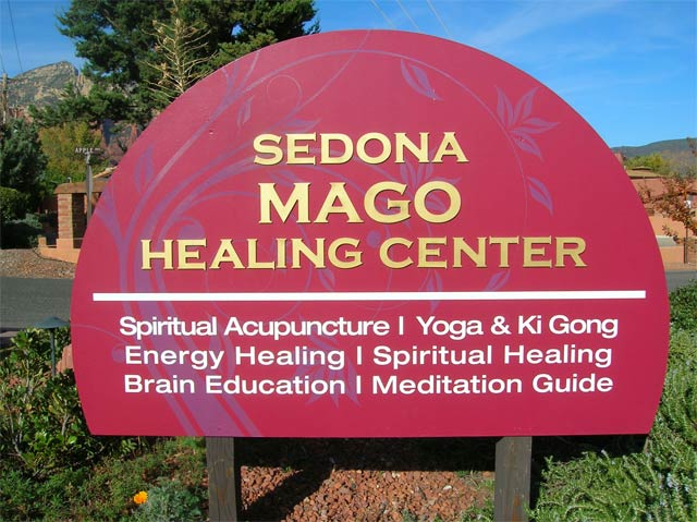 Sedona Mago Retreat Center Sign