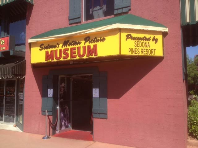 Sedona Motion Picture Museum sign