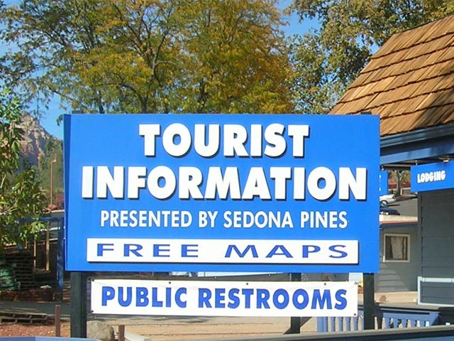 Sedona Tourist Information Center sign