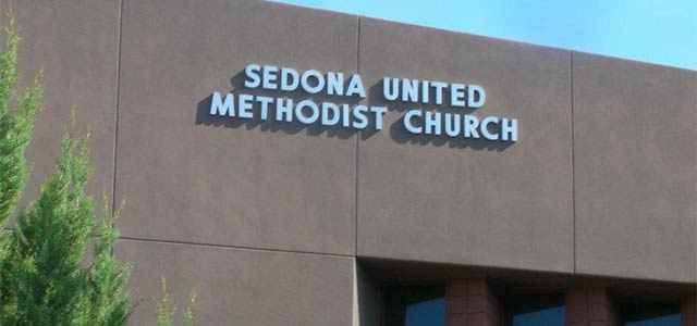 Sedona United Methodist Church sign