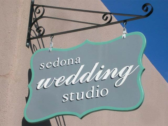 Sedona Wedding Studio sign