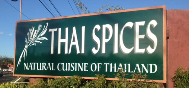 Thai Spices Sedona restaurant sign