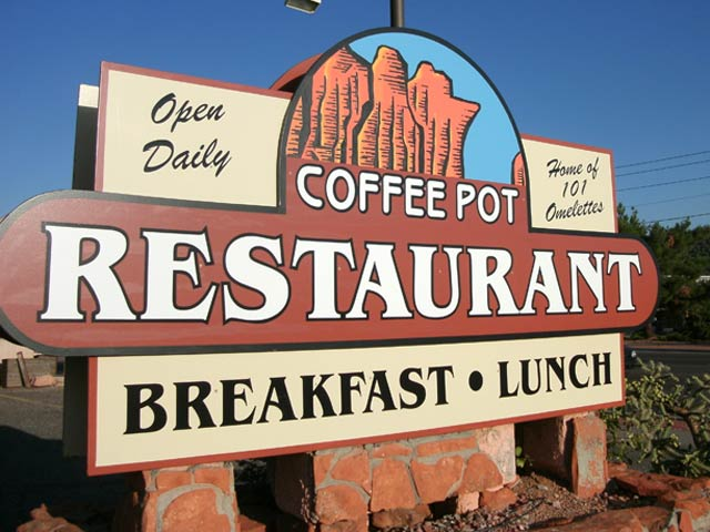 coffee pot restaurant sedona sign