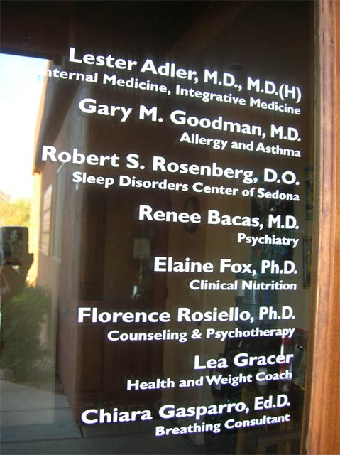 doctors office window lettering