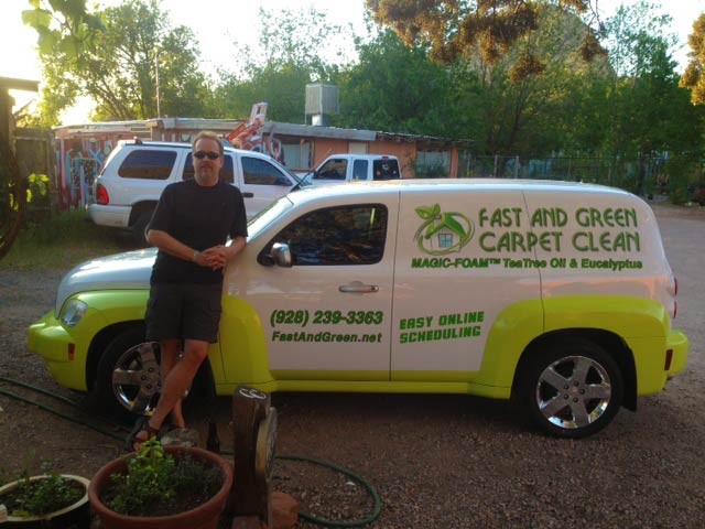 Fast Green Carpet Clean vehicle wraps
