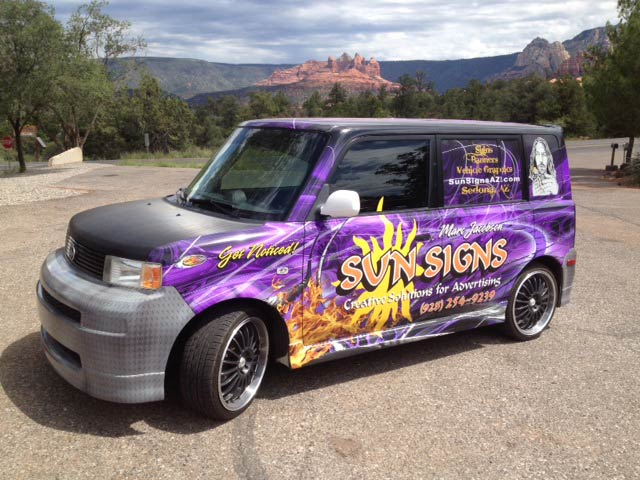 Sun Signs Vehicle Wrap