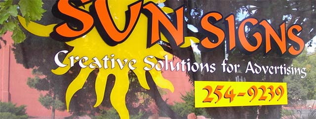 sun signs window graphics sedona arizona