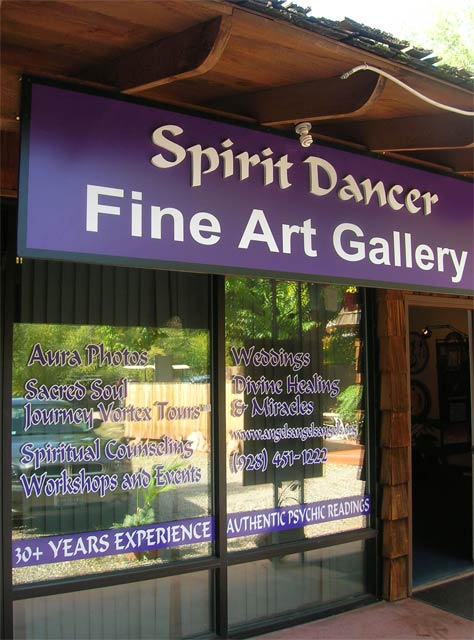 Spirit Dancer Gallery Sedona window graphics