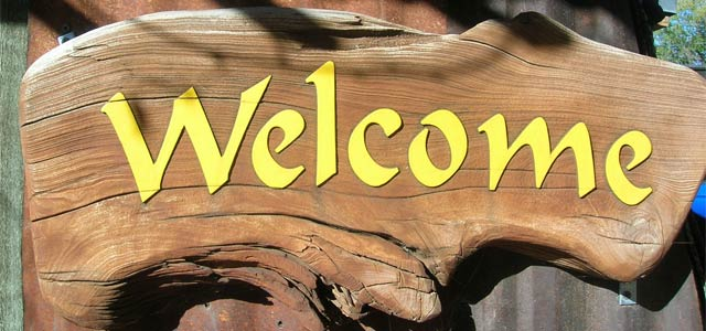 Welcome sign wood dimensional by Sun Signs Sedona