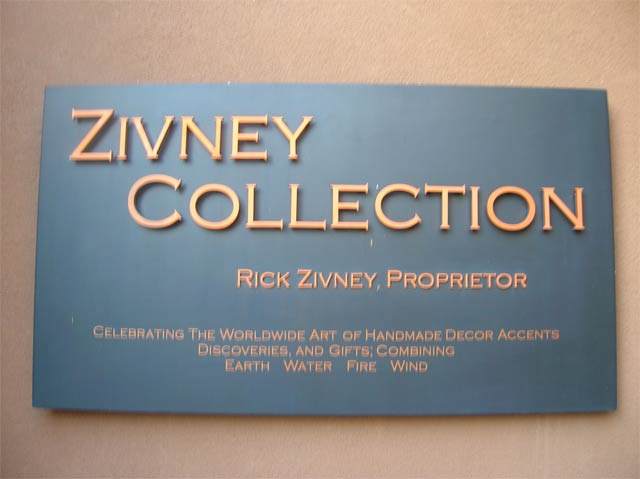 zivney collection wall sign